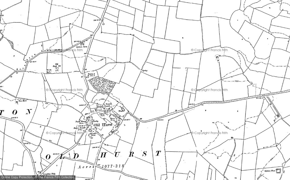 Old Map of Oldhurst, 1887 - 1900 in 1887