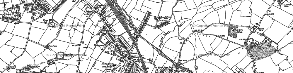 Old map of Olton in 1886