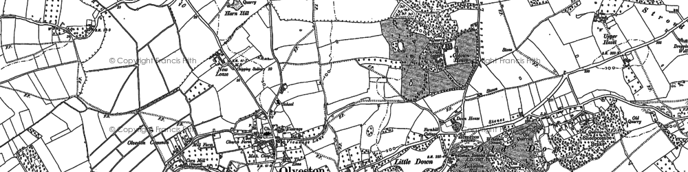 Old map of Olveston in 1880