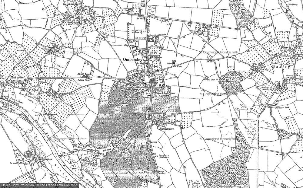Old Map of Ombersley, 1883 in 1883