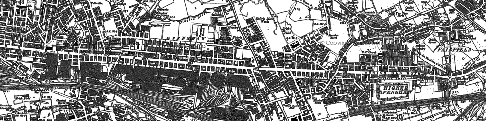 Old map of Openshaw in 1890