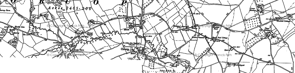 Old map of Orcop in 1887