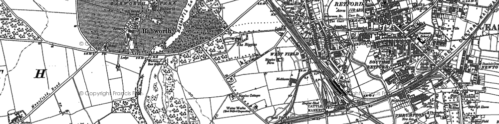 Old map of White Houses in 1884