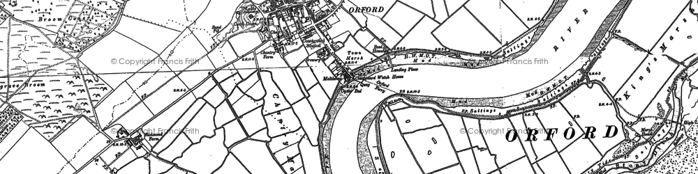 Old map of Orford in 1902