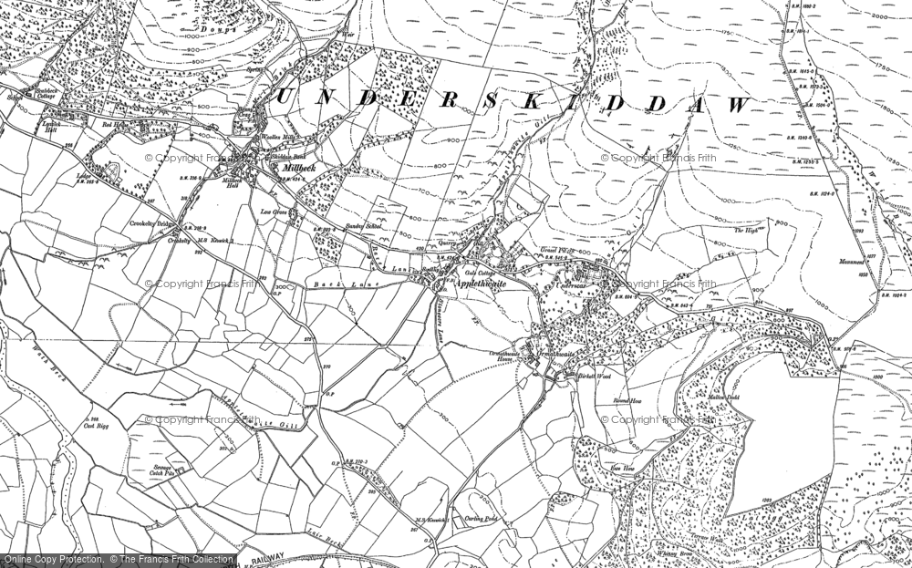 Old Map of Historic Map covering Latrigg in 1898