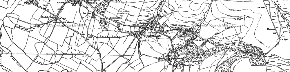 Old map of Latrigg in 1898