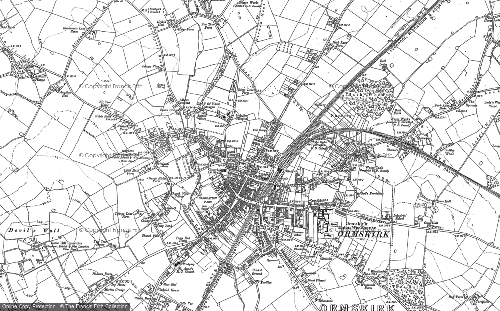 Old Map of Ormskirk, 1891 - 1892 in 1891