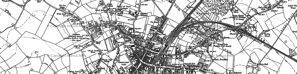 Old map of Aughton Park in 1891