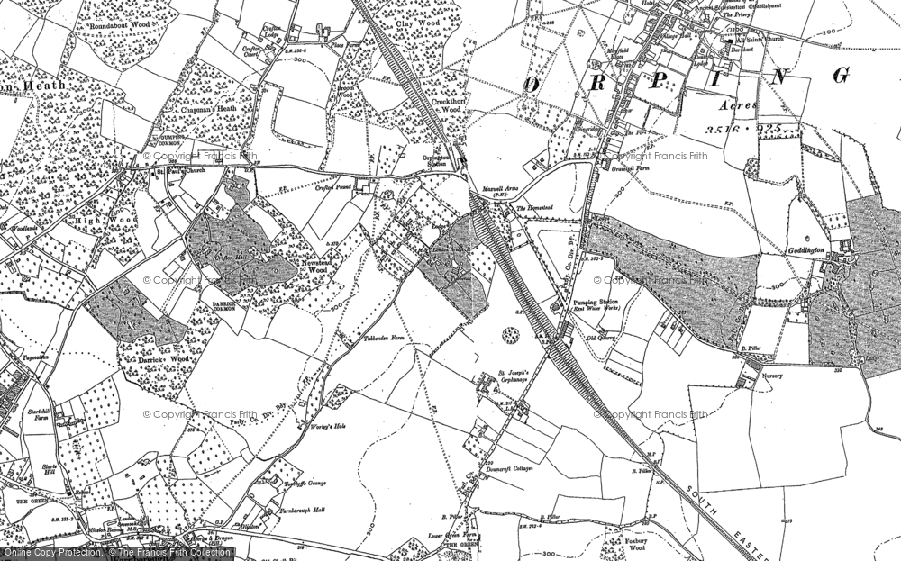 Old Map of Orpington, 1895 in 1895