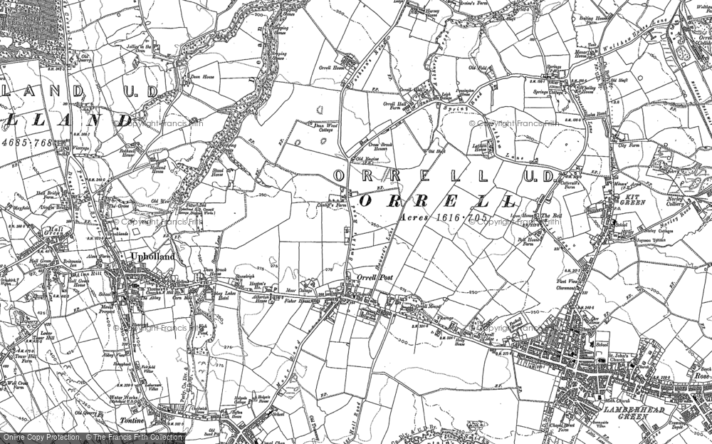 Old Map of Historic Map covering Tontine in 1892