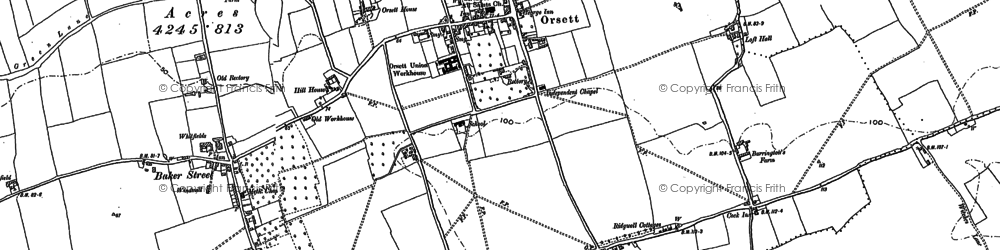 Old map of White Crofts in 1895