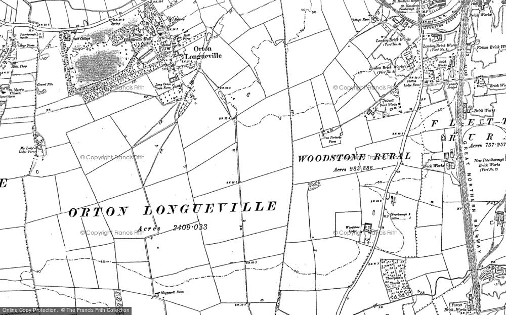 Old Map of Orton Malborne, 1887 in 1887