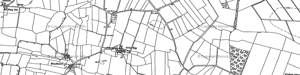 Old map of Orton Rigg in 1890
