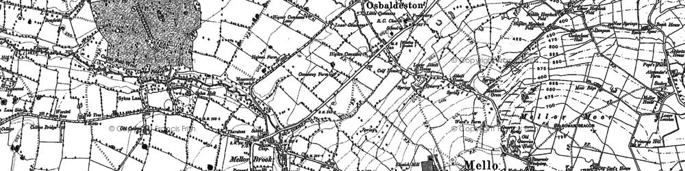 Old map of Osbaldeston in 1892