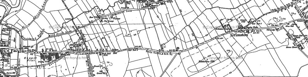 Old map of Osbaldwick in 1890