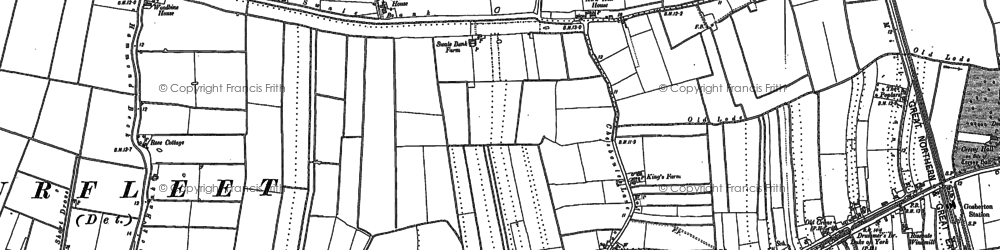 Old map of Woodbine Ho in 1887
