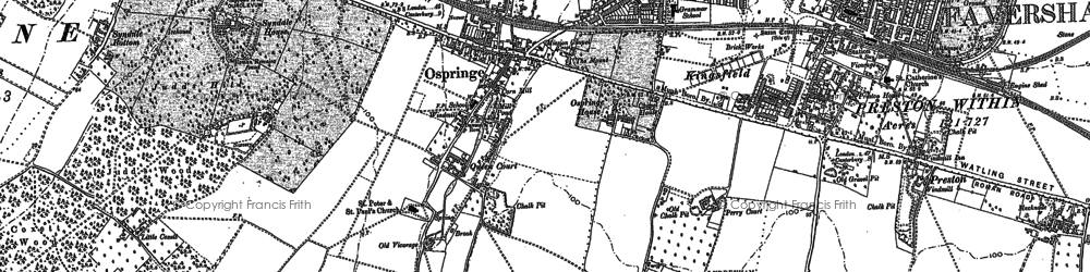 Old map of Whitehill in 1896