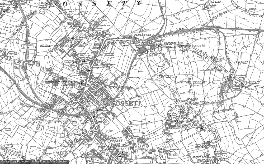 Old Map of Historic Map covering Healey in 1890