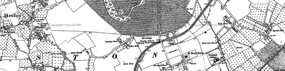 Old map of Osterley in 1894