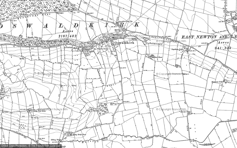 Old Map of Historic Map covering Leysthorpe in 1891