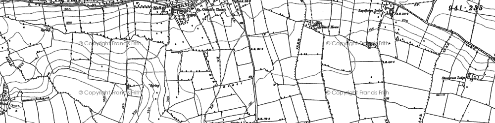Old map of Oswaldkirk in 1891