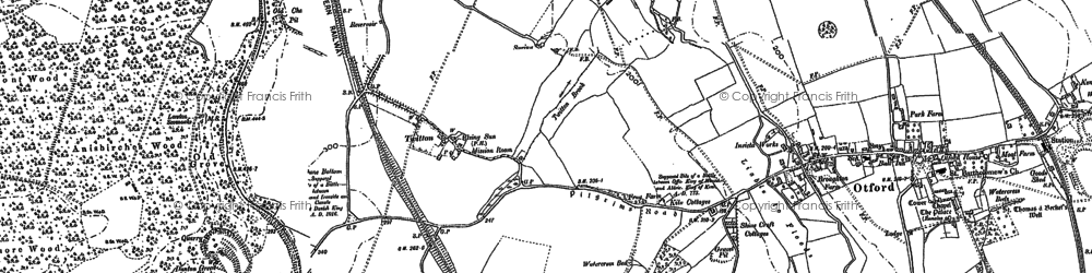 Old map of Otford in 1895