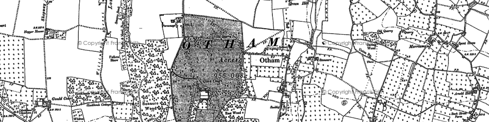 Old map of Willington in 1867