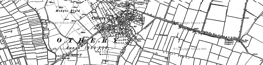 Old map of Othery in 1885