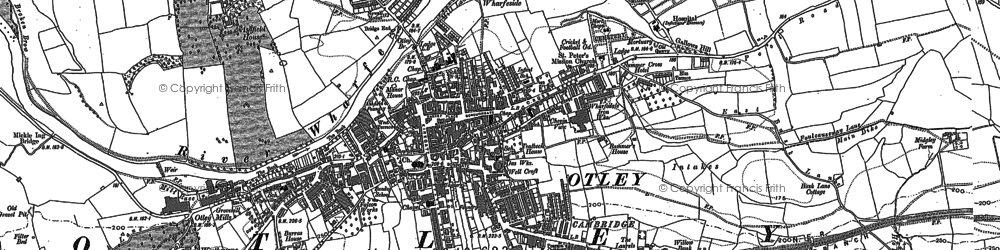 Old map of Otley in 1889