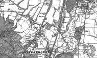 Old Map of Otterbourne, 1895
