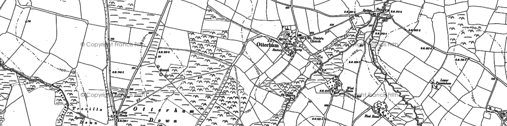 Old map of Otterham Station in 1882