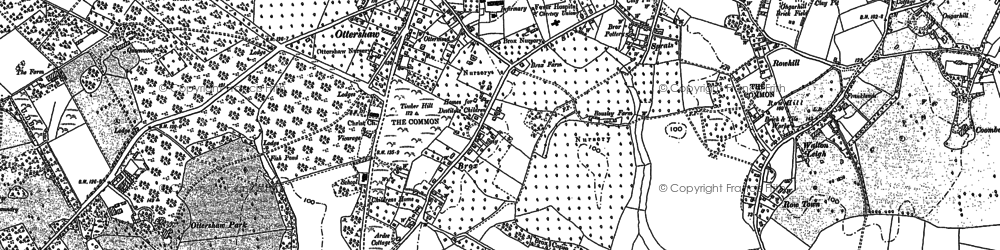 Old map of Rowhill in 1895