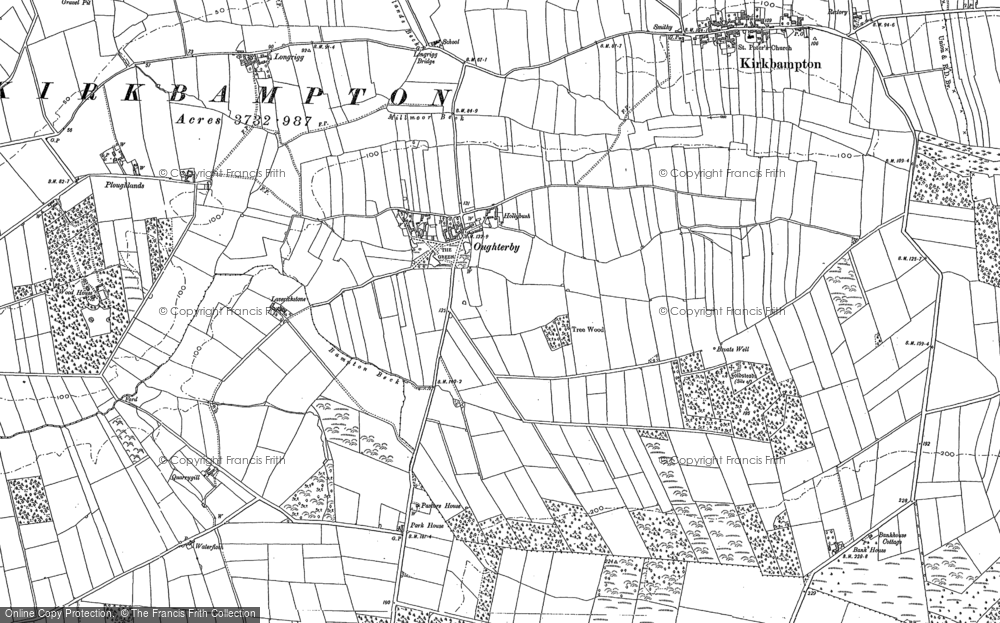 Old Map of Historic Map covering Laverickstone in 1899