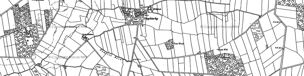 Old map of Laverickstone in 1899