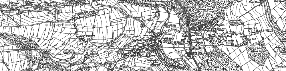 Old map of Wharncliffe Wood in 1890