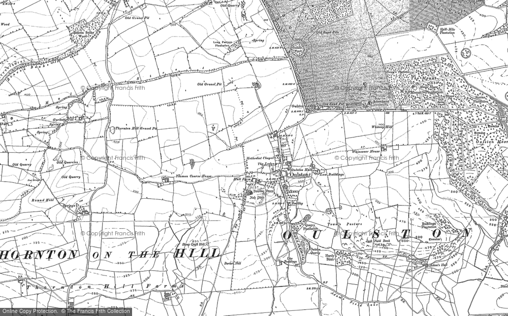 Old Map of Historic Map covering Adam's Hall in 1889