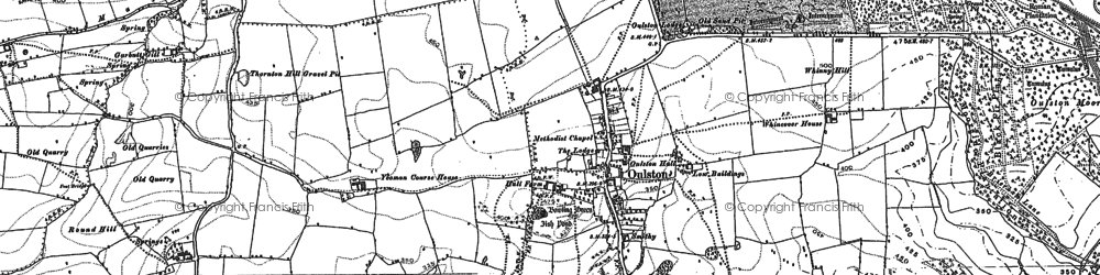 Old map of Adam's Hall in 1889