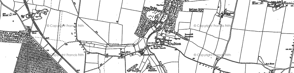 Old map of Leaselands, The in 1885