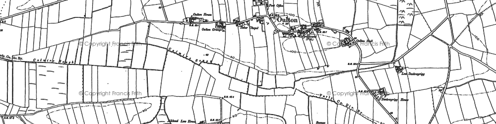 Old map of Lawrenceholme in 1899