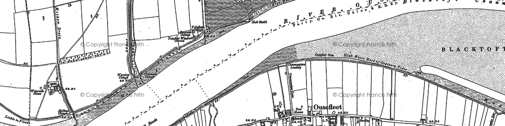 Old map of Adlingfleet Drain in 1888