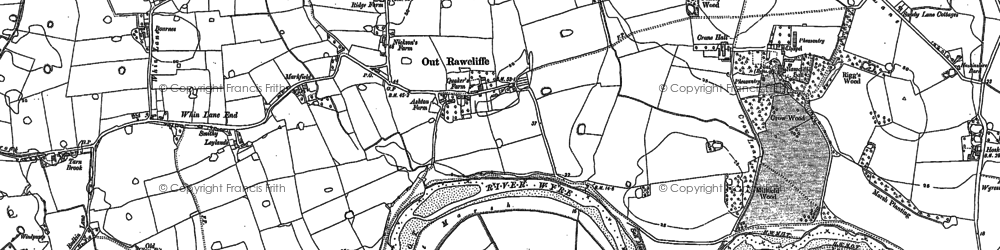 Old map of Ashton in 1910