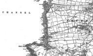 Old Map of Outer Hope, 1904 - 1905