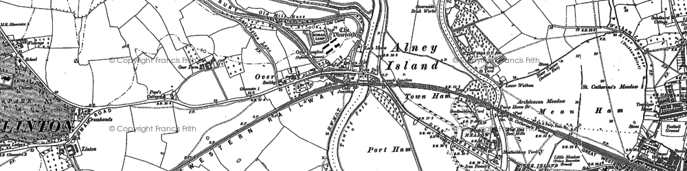 Old map of Over in 1883