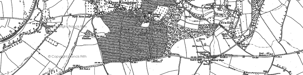 Old map of Babylon Hill in 1901