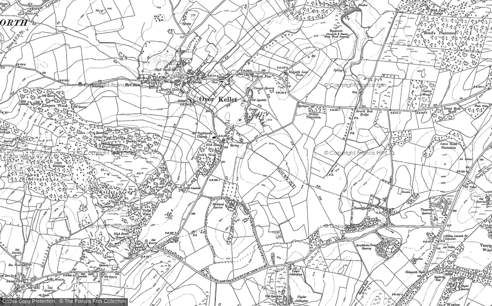 Old Map of Historic Map covering Addington in 1910