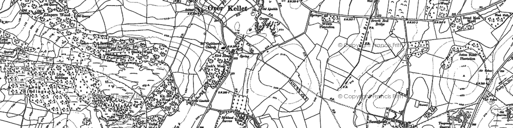 Old map of Over Kellet in 1910