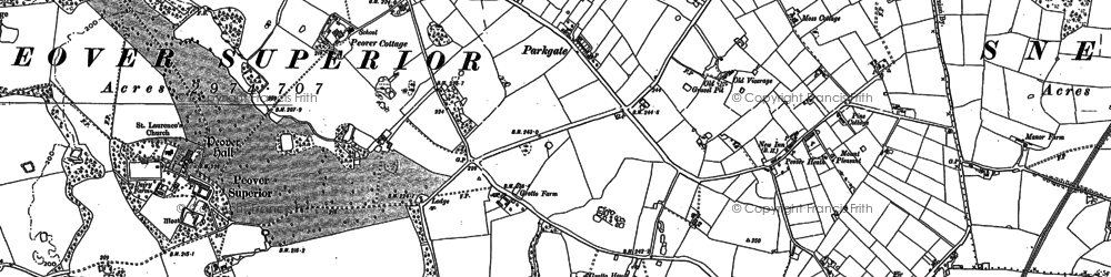 Old map of Over Peover in 1897