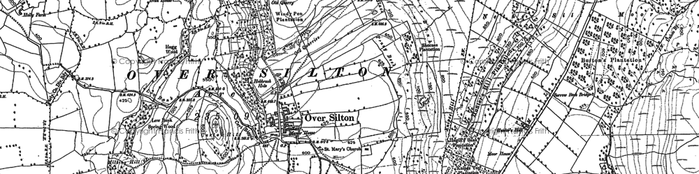 Old map of Leake Stell in 1890
