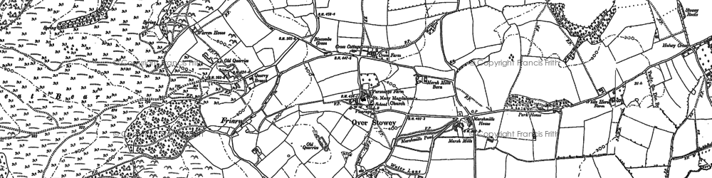 Old map of Over Stowey in 1886