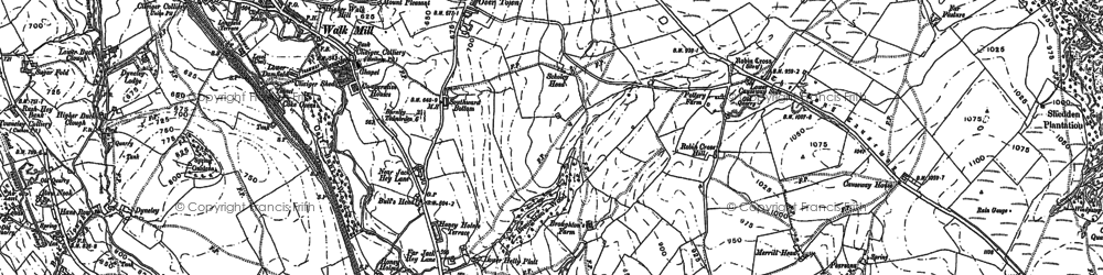 Old map of Barcroft in 1891